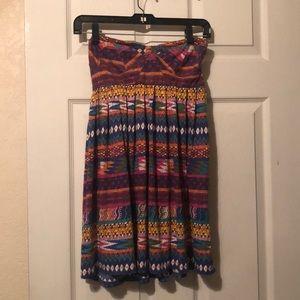 Billabong Tribal Strapless Dress